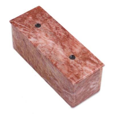 Pink Marble Domino Set from Mexico