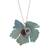 Agate pendant necklace, 'Vine' - Leaf Motif Agate Pendant Necklace from Mexico (image 2a) thumbail