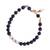 Gold accent lapis lazuli and cultured pearl beaded bracelet, 'Midnight Moonrise' - Gold Accent Cultured Pearl and Lapis Beaded Pendant Bracelet (image 2a) thumbail