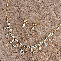 Quartz pendant jewelry set Sparkling Ice (Mexico)