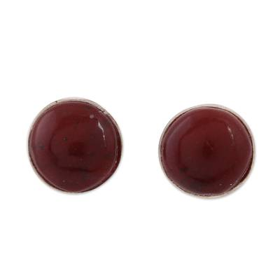 Natural Amber Stud Earrings Crafted in Mexico