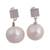 Cultured pearl dangle earrings, 'Enchantments of the Sea' - Cultured Freshwater Pearl Sterling Silver Dangle Earrings (image 2a) thumbail