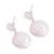 Cultured pearl dangle earrings, 'Seabound Treasure' - Cultured Keshi Pearl and Sterling Silver Dangle Earrings (image 2c) thumbail
