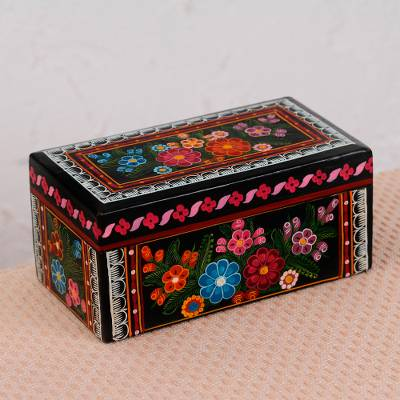 Wood decorative box, Vibrant Bouquet