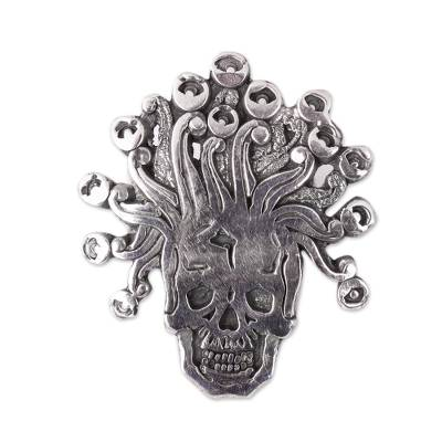 Sterling Silver Aztec God Pendant from Mexico