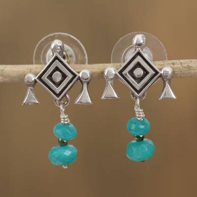 Agate dangle earrings, Cradle of Hope