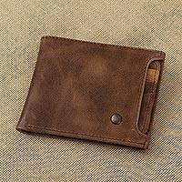 Leather wallet, 'Mahogany Style' - Handmade Leather Wallet in Mahogany from Mexico