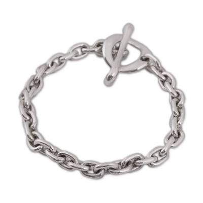 Taxco Sterling Silver Chain Bracelet from Mexico