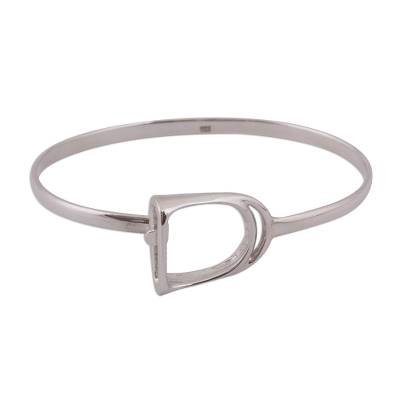 Sterling Silver Bangle Bracelet Crafted in Mexico
