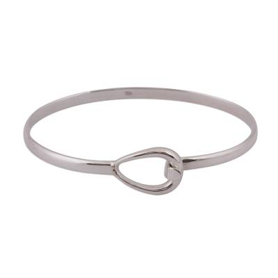 Artisan Made Sterling Silver Bangle Bracelet from Mexico