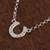 Sterling silver pendant necklace, 'Beautiful Horseshoe' - Sterling Silver Horseshoe Pendant Necklace from Mexico (image 2b) thumbail
