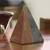 Marble sculpture, 'Grey and Brown Pyramid' - Grey and Brown Marble Pyramid Sculpture from Mexico thumbail