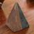 Marble sculpture, 'Grey and Brown Pyramid' - Grey and Brown Marble Pyramid Sculpture from Mexico (image 2b) thumbail