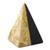 Marble sculpture, 'Beige and Black Pyramid' - Beige and Black Marble Pyramid Sculpture from Mexico (image 2a) thumbail