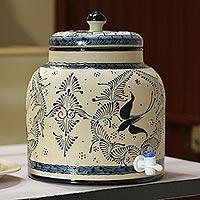Ceramic beverage dispenser,