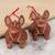 Ceramic ornaments, 'Smiling Dogs' (pair) - Rustic Ceramic Dog Ornaments from Mexico (Pair) (image 2b) thumbail