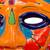 Ceramic mask, 'Chicha Penacho' - Talavera-Style Ceramic Aztec Mask Crafted in Mexico (image 2b) thumbail