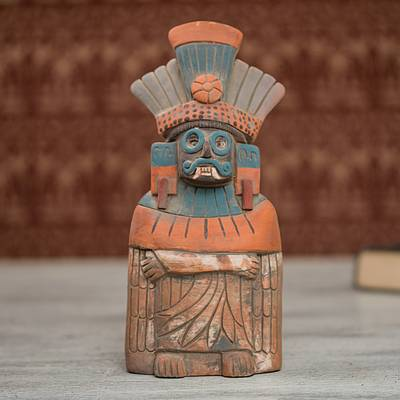 Ceramic sculpture, Mighty Tlaloc