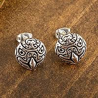 Sterling silver stud earrings, 'Stylized Eagle' - Stylized Eagle Sterling Silver Stud Earrings from Mexico