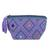 Cotton coin purse, 'Violet Designs' - Geometric Violet Cotton Coin Purse from Mexico (image 2a) thumbail