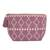 Cotton cosmetic bag, 'Geometric Meditation' - Dusty Lilac Geometric Cotton Cosmetic Bag from Mexico (image 2a) thumbail