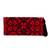 Cotton blend clutch, 'Firelit Garden' - Dramatic Cross-Stitched Black on Red Cotton Blend Clutch (image 2a) thumbail