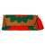Cotton blend clutch, 'Wrap Around Bloom in Scarlet' - Embroidered Scarlet Flower on Tan Cotton Blend Clutch (image 2a) thumbail