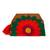 Cotton blend clutch, 'Wrap Around Bloom in Scarlet' - Embroidered Scarlet Flower on Tan Cotton Blend Clutch (image 2b) thumbail