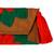 Cotton blend clutch, 'Wrap Around Bloom in Scarlet' - Embroidered Scarlet Flower on Tan Cotton Blend Clutch (image 2d) thumbail