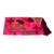 Cotton blend clutch, 'Tropical Blooms' - Fuchsia Floral Embroidered Floral Motif Cotton Blend Clutch (image 2a) thumbail