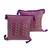 Cotton cushion covers, 'Purple Maya Geometry' (pair) - 2 Backstrap Loom Woven Colorful Purple Cotton Cushion Covers (image 2a) thumbail