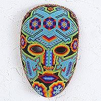 Beadwork mask, Blue Eagle
