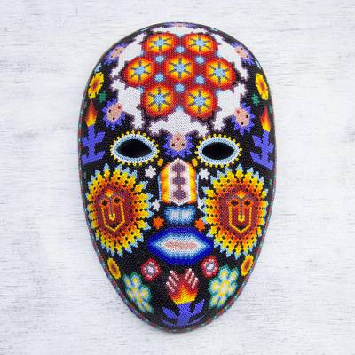 'Jicuri Dance,' mask - Huichol Peyote Mask with beadwork