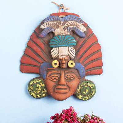 Ceramic mask, 'Mexican Priest' - Ceramic Mask of a Pre-Hispanic Priest from Mexico