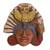 Ceramic wall plaque, 'Owl Warrior' - Oaxacan Clay Wall Plaque of Owl Warrior (image 2a) thumbail