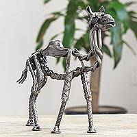 Recycled auto parts sculpture, 'Rustic Camel' - Rustic Recycled Auto Parts Camel Sculpture