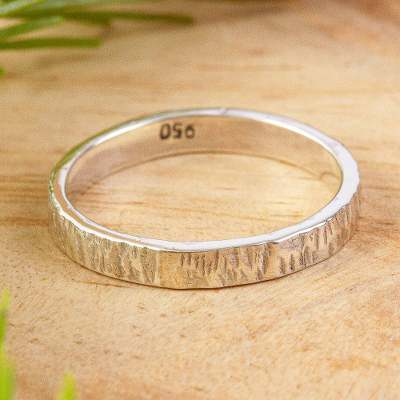 Unisex silver band ring, Subtle Texture