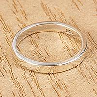 Unisex silver band ring, 'Polished' - Polished 950 Silver Unisex Band Ring