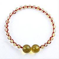 Amber unity bracelet, 'In Solidarity' - Handcrafted Natural Maya Amber Unity Bracelet