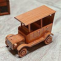Wood home accent, 'Old-Fashioned Car' - Old Fashioned Wood Car Home Accent from Mexico