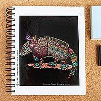 Art print journal, 'Armadillo' - Alebrije Style Journal with Armadillo Illustration