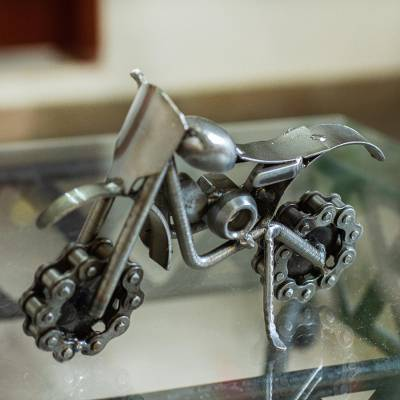Recycled auto parts sculpture, Rustic Dirt Bike