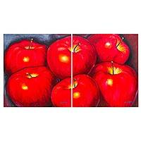 Diptych, 'Apples' - Realistic Diptych of Apples