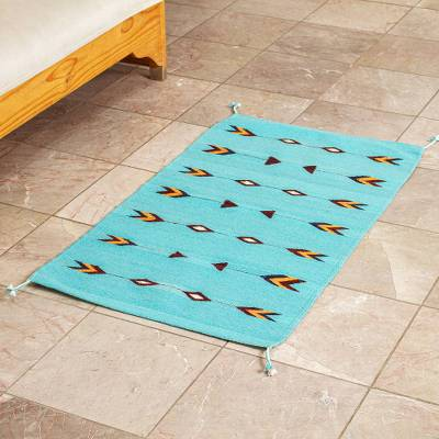 Zapotec wool area rug, 'Arrowheads' (2x3) - Hand Loomed Wool Area Rug (2x3)