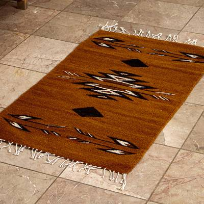 Zapotec wool area rug, 'Spice Diamonds' (2x3) - Hand Woven Zapotec Wool Area Rug (2x3)