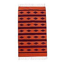Zapotec wool area rug, 'Diamond Mine' (2.5x5) - Bright Hand Loomed Area Rug (2.5x5)