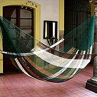Hammock, 'Mother Earth' (double) - Striped Rope Hammock (Double)