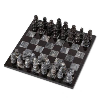 Handcrafted Mexican Marble Chess Set Game