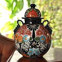 Talavera ceramic vase,