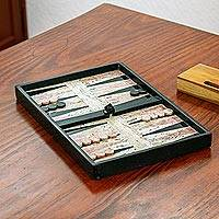 Backgammon set, 'Rustic Marble' - Hand Made Marble Backgammon Set from Mexico